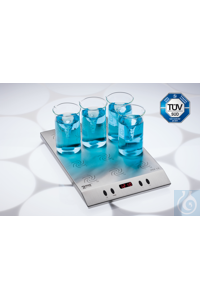 2mag - MIX 12 XL Multiple point stirrer 12x 600 mL beaker glasses (tall form)...